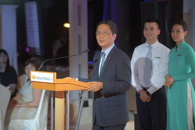 Bộ trưởng Bộ Công Thương hy vọng Vietnam Airlines sẽ góp phần thực hiện mục tiêu kim ngạch song phương giữa 2 nước.