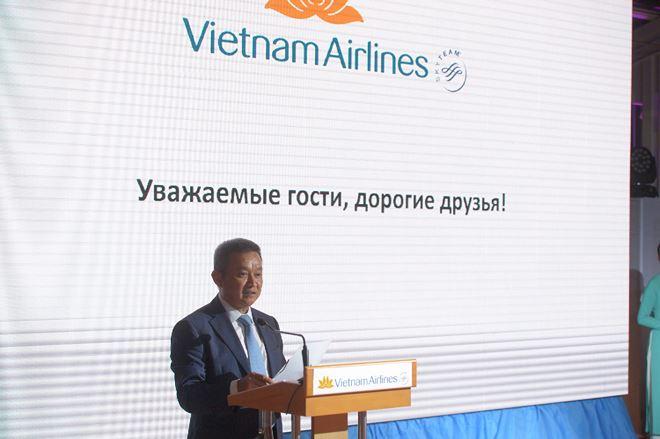 Tổng giámđốc VietnamAirlines Dương Trí Thành cho biếtđây là dấu mốcđáng nhớ của VietnamAirlines.