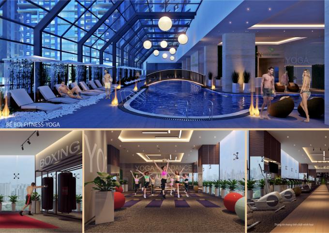 Hàng trăm tích hợp tại Gold Tower như bể bơi bốn mùa trong nhà, phòng tập Gym, Yoga, spa, rạp chiếu phim CGV..