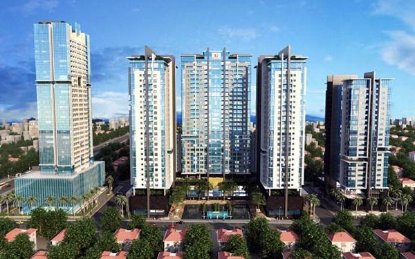 Toàn cảnh Gold Tower 275 Nguyễn Trãi, vị trí vàng mười khu vực phía Tây Hà Nội của CĐT Hoàng Huy Group.