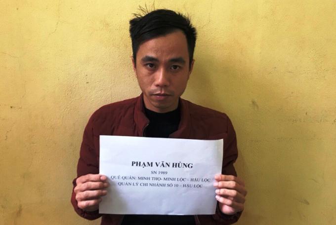 Phạm Văn Hùng, quản lý chi nhánh số 10, tại thôn Yên Hòa, xã Hưng Lộc, huyện Hậu Lộc.