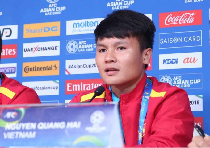 Tiền đạo Nguyễn Quang Hải cho biết tất cả các cầu thủ đã cố gắng để có sự chuẩn bị tốt nhất