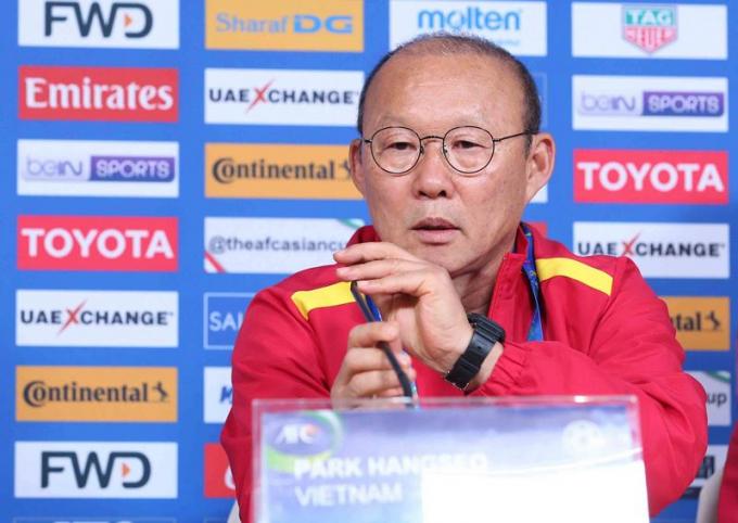 HLV Park Hang Seo khẳng định sẽ nỗ lực hết sức để giành được kết quả tốt trong trận đấu