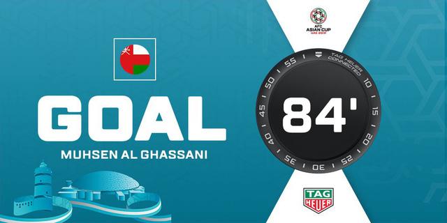 Oman đã nâng tỷ số lên 2-1 ở phút 84