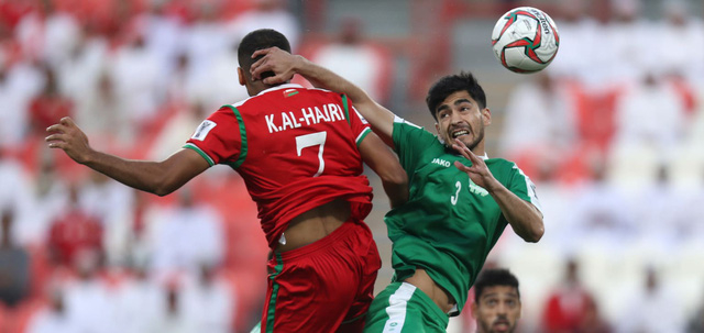 Oman (đỏ) đang áp đảo về thế trận
