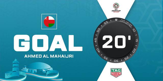 Oman có bàn thắng mở tỷ số ở phút 20