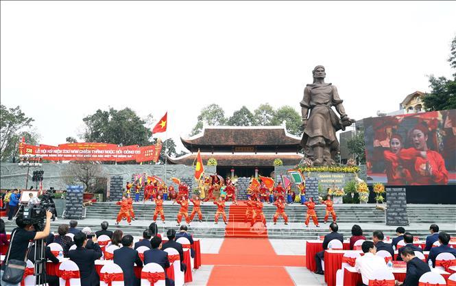Quang cảnh Lễ hội kỷ niệm 230 năm chiến thắng Ngọc Hồi - Đống Đa.