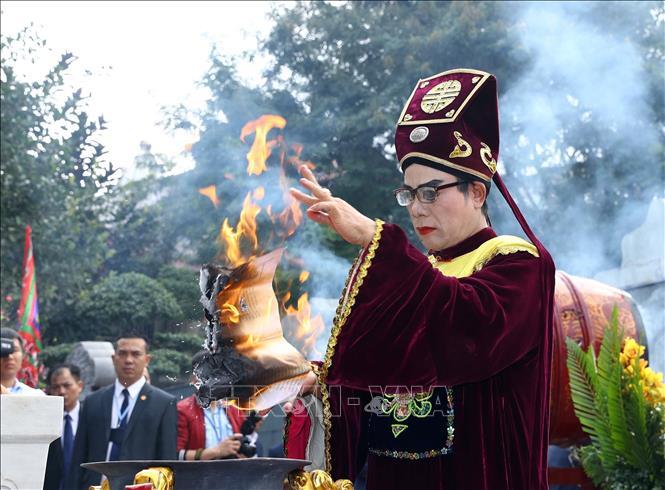 Nghi lễ tưởng niệm Đại Đế Quang Trung tại Lễ hội kỷ niệm 230 năm chiến thắng Ngọc Hồi - Đống Đa.