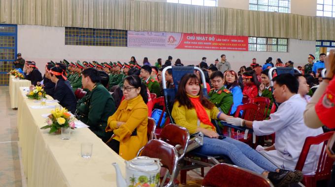 """Lễ phát động ngày Hội hiến máu tình nguyện """"Chủ nhật đỏ"""" lần thứ 10 năm 2018 tại Quảng Bình."""