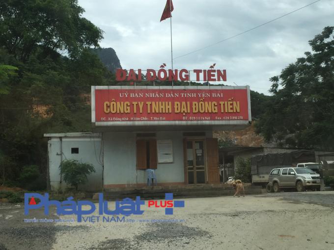 Công ty TNHH Đại Đồng Tiến, đơn vị khai thác đá tại xã Đồng Khê, huyện Văn Chấn (Yên Bái).