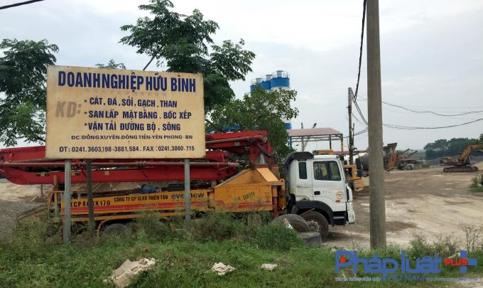 Những trạm trộn bê tông này là của các doanh nghiệp Thiên Tân, Anh Đào và Hữu Bình.