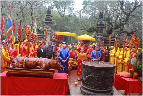 Khai mạc Lễ hội Gióng năm 2018 tại Khu di tích Lịch sử đền Sóc, huyện Sóc Sơn, TP Hà Nội.