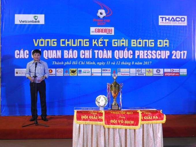Ông Hồ Minh Chiến - Tổng biên tập Báo Gia đình Việt Nam, Trưởng ban tổ chức giải.