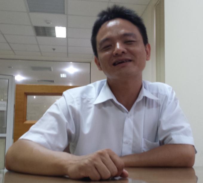 Ông Lê Tuấn Dũng, cán bộ Phòng quản lý đô thị quận Hoàn Kiếm.