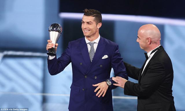 C.Ronaldo giành giải Cầu thủ xuất sắc nhất FIFA năm 2016.