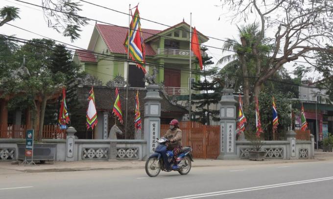 Căn nhà thờ họ Đặng có lịch sử hình thành lâu đời, được công nhận là di tích văn hóa cấp tỉnh.