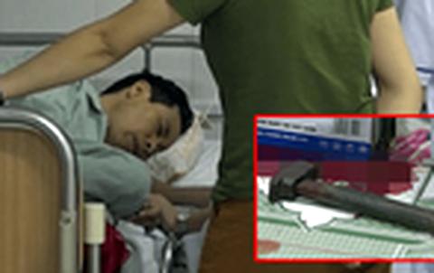 Ông Bùi Huy Đông khi đang được điều trị trong bệnh viện.