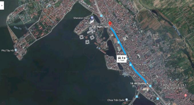 Cây cầu tạo thuận lợi cho việc kết nối nhanh giữa trung tâm chính trị Ba Đình với sân bay Nội Bài thông qua cầu Nhật Tân.