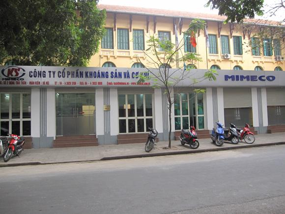 Công ty cổ phần Khoáng sản và Cơ khí có trụ sở tại địa chỉ Số 2 Đặng Thái Thân, phường Phan Chu Trinh, quận Hoàn Kiếm, thành phố Hà Nội.