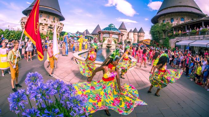 Lễ hội tưng bừng tại Sun World Ba Na Hills