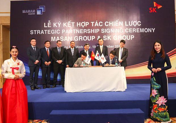 Lễ ký kết chiến lược giữa Masan và SK