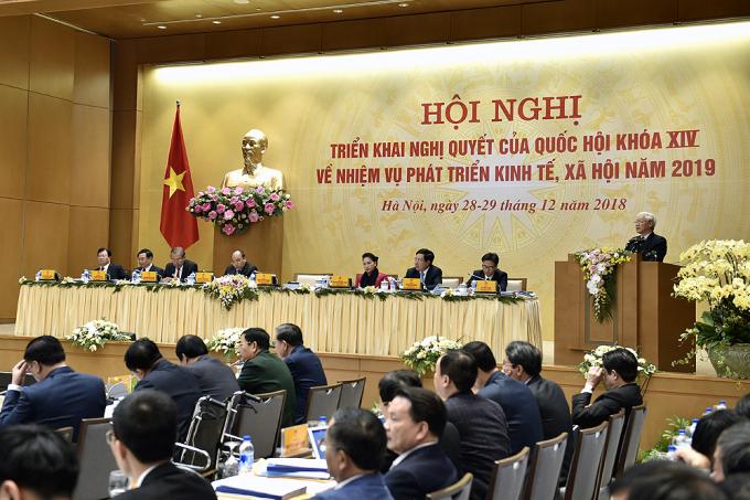 Tổng Bí thư, Chủ tịch nước Nguyễn Phú Trọng phát biểu chỉ đạo Hội nghị. -        Ảnh: VGP/Nhật Bắc