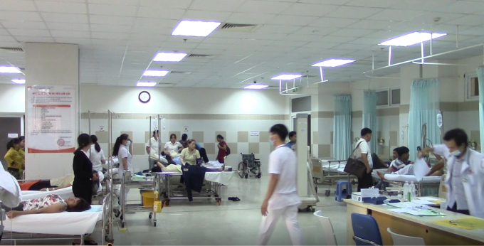 Tất cả được đưa vào bệnh viện đa khoa Mỹ Phước cấp cứu.