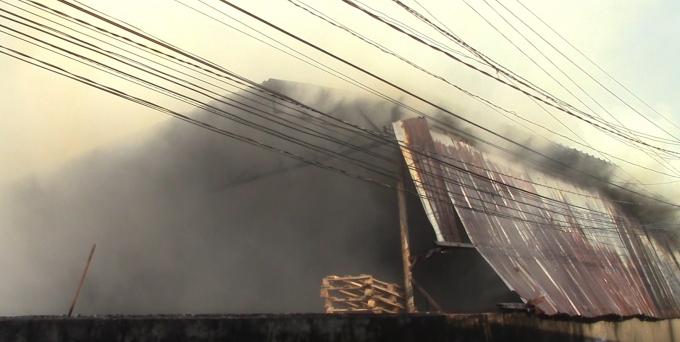 Nhà xưởng nơi xảy ra vụ cháy