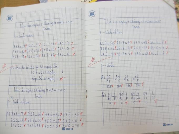 Từ một đứa trẻ không biết đọc, biết viết nay em Tùng đã làm toán rất tốt (Ảnh: Mẫn Nhi)