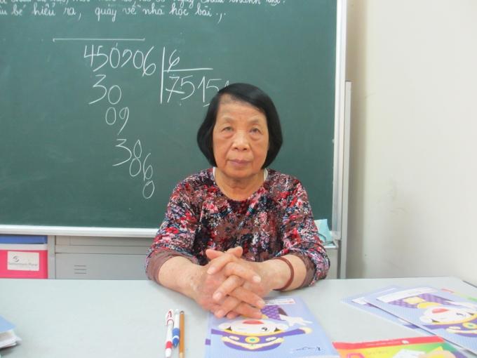 Cô giáo Nguyễn Thị Côi (Ảnh:Mẫn Nhi)