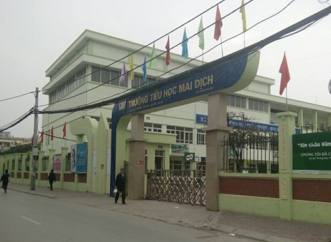 Trường Tiểu học Mai Dịch, Cầu Giấy, Hà Nội. Ảnh: Thu Thủy