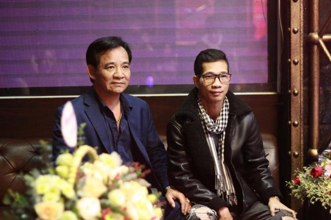 Đạo diện Phạm Nguyên Bắc cùng diễn viên Quang Tèo.