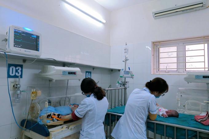 Hình ảnh máy điều hòa 2 chiều tại tại phòng cấp cứu của khoa Khoa Nhi.