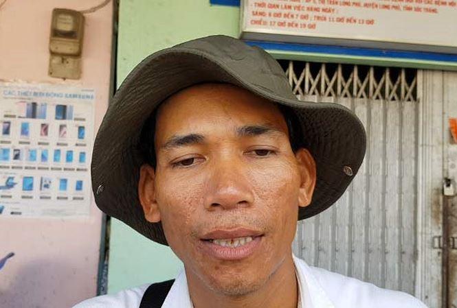 Anh Kim Thái, người bán vé số