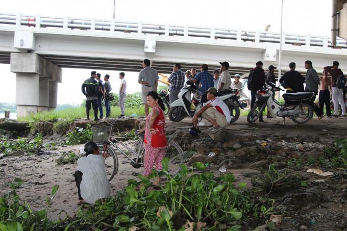 Gầm cầu Bình Phước, nơi xảy ra vụ việc.