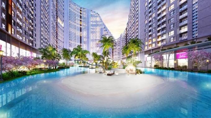 Các nhà đầu tư Dự án River City chi mạnh tới 20 triệu USD để đầu tư bãi biển ốc đảo nhân tạo, như một yếu tố mới lạ để thu hút khách hàng.
