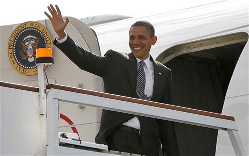 Tổng thống B.Obama đi công du (Ảnh: Internet).