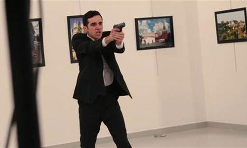 Mevlut Mert Altintas, hung thủ ám sát đại sứ Nga tại Thổ Nhĩ Kỳ. (Ảnh:AP)