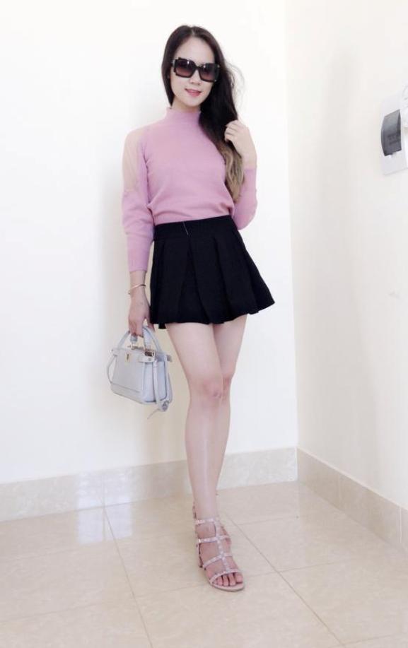 Kim Anh rất thích kinh doanh thời trang