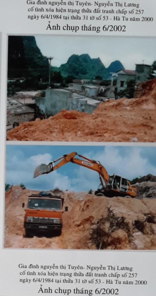 Những hình ảnh tư liêu ghi lại việc san gạt đất tại thửa đất tranh chấp được ông Thanh lưu lại.