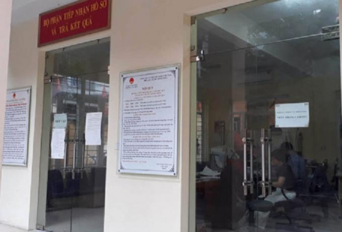 Nơi tiếp dân của phường Văn Miếu, quận Đống Đa, Hà Nội.