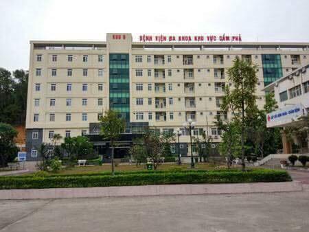 Bệnh viện đa khoa khu vực Cẩm Phả nơi xảy ra sự việc.