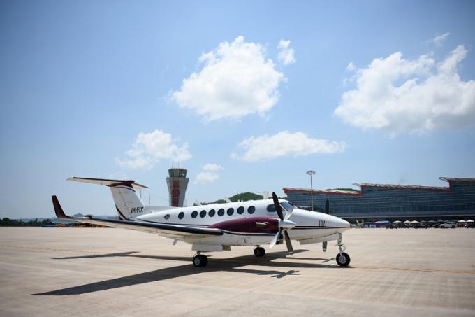 Chuyến bay đầu tiên hạ cánh xuống sân bay Vân Đồn.