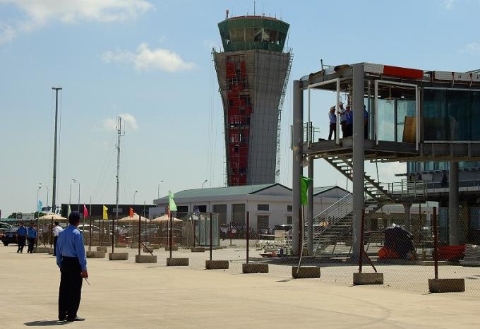 Lực lượng bảo vệ chuyên nghiệp được bố trí tại sân bay.