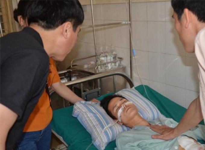 Đối tượng Luân đang được cấp cứu tại bệnh viện và đang bình phục.