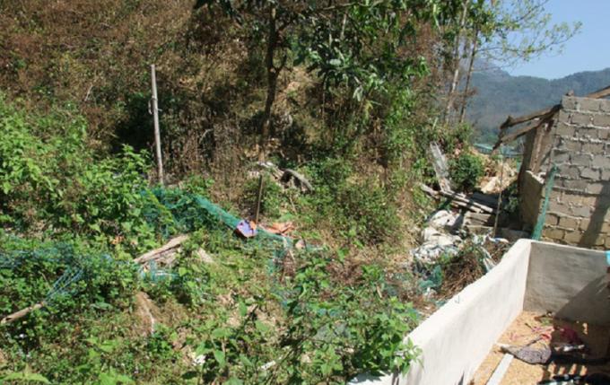 Khư vực nơi phát hiện thi thể nạn nhân Duyên.