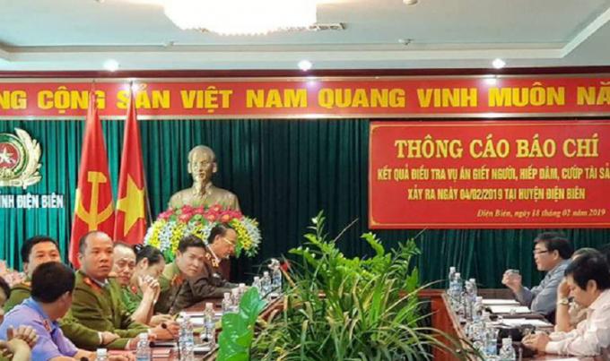Công an tỉnh Điện Biên Họp báo thông tin ban đầu về vụ án.