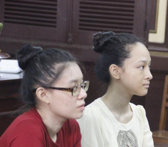 Hoa hậu Phương Nga tại phiên tòa ngày 22/6