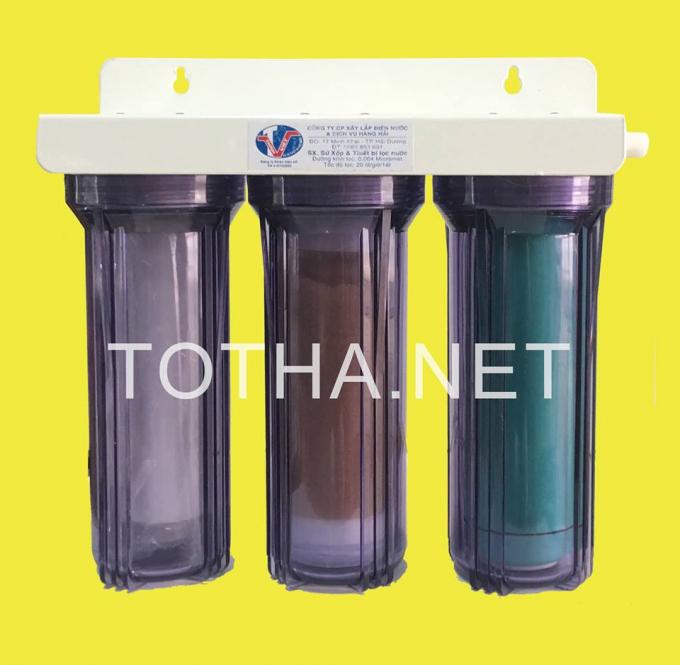 Totha sử dụng thiết bị lọc nước bằng võ trấu với lỗ lọc siêu nhỏ của các nhà khoa học Việt Nam để lọc nước trong chế biến thực phẩm.
