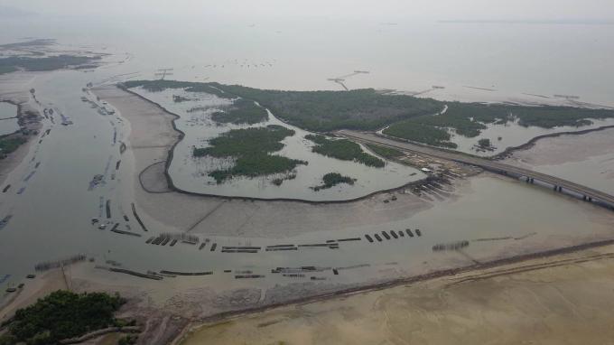 Toàn cảnh dự án cảng tổng hợp Container Cái Mép Hạ.